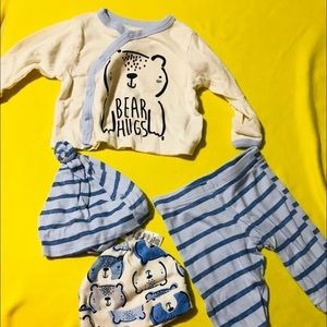 Baby organic clothes set